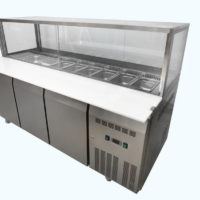 Three Door Refrigerated Showcase on Castors
