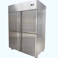 Two Door Split Upright Freezer on Castors