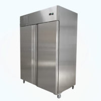 Two Door Upright Fridge on Castors