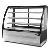 Caterware Freestanding Curved glass display fridge (1700 wide)