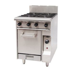 GBO4 four burner cooktop with oven