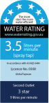 Water Rating label 6 star